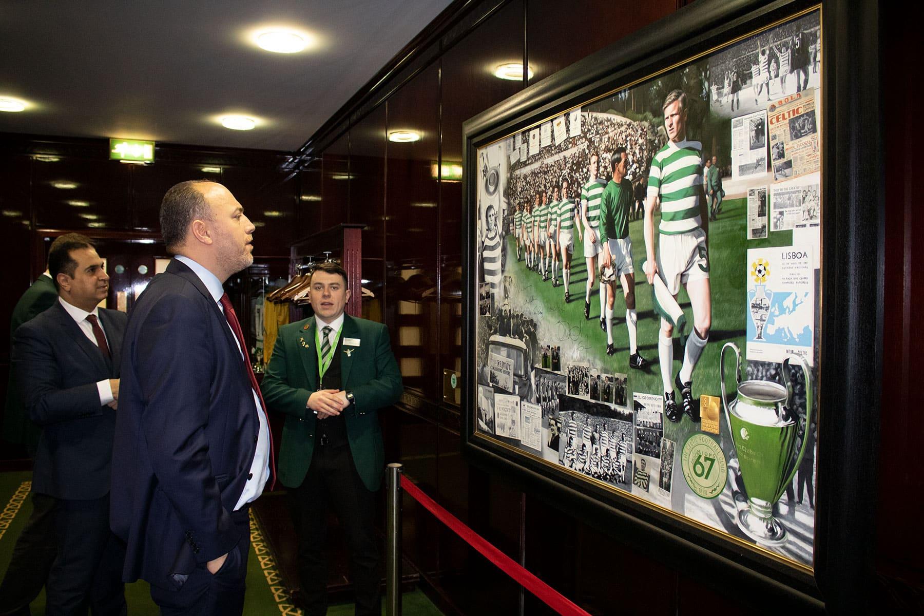 Dr Zomlot tour at Celtic FC