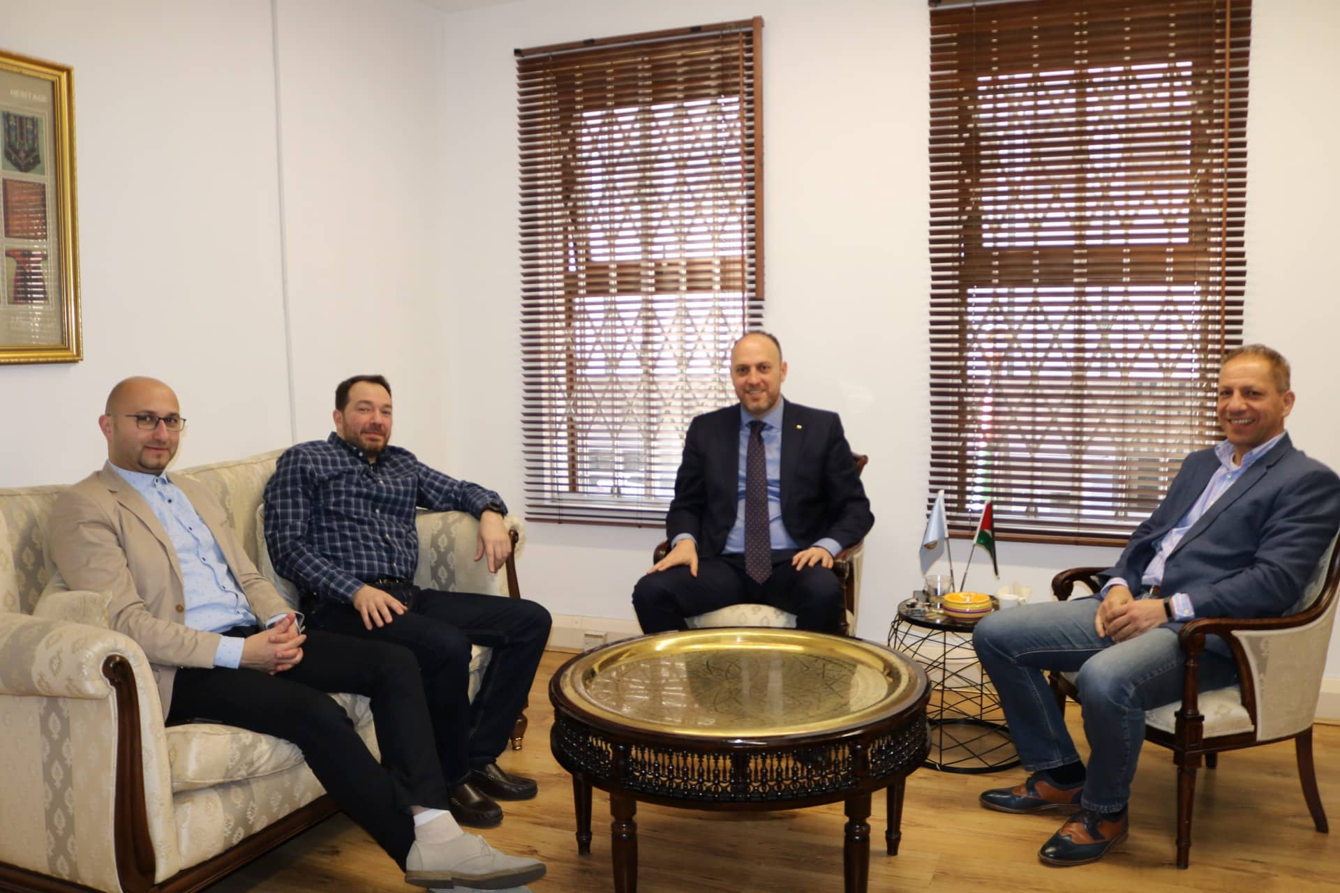 Dr Zomlot receives visiting Palestinian company's team