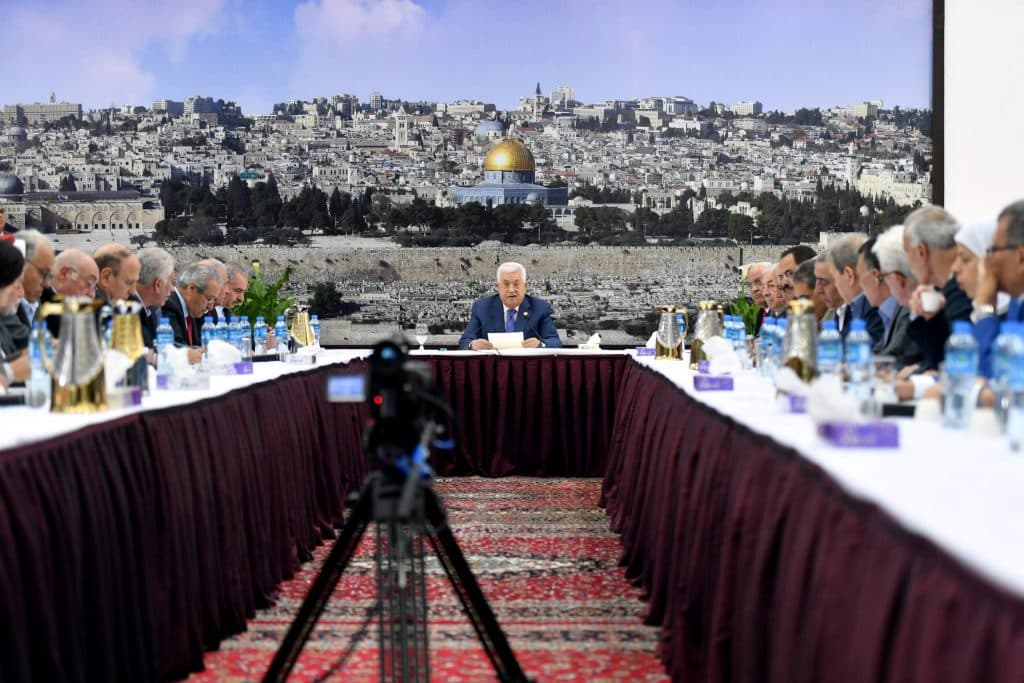 President Abbas declares an end to working on agreements with Israel