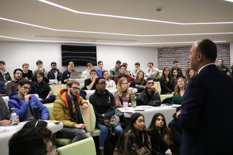 H.E. Dr. Husam Zomlot Gives A Lecture In The University Of Warwick 08